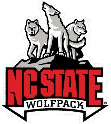 5 Inch North Carolina NC State University Wolfpack NCSU Logo Removable Wall Decal Sticker Art NCAA Home Room Decor 5 by 5 Inches