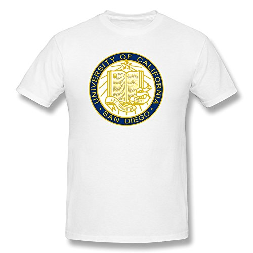 EnHui Make Your Own Men University Of California Ucsd Slim Fit Tshirts Medium White