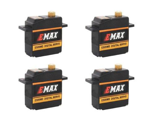 4x Emax ES09MD Digital Metallgetriebe BB Mini Servo 15g 0,08s 2,6kg vgl. ES08MD