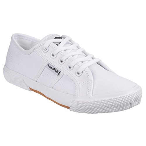 Kangaroos Mujeres / Ladies Voyage Lace Up Casual Plimsoll Black