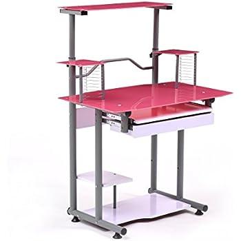 Amazon Com Mainstays Stylish Glass Top Desk Brings