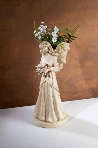 Vintage Antique Design Angel With Wings Planter Flower Holder Vase