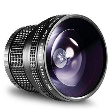 Neewer 52MM 0.20X High Definition Super Wide AF Fisheye Lens for Nikon D5300 D5200 D5100 D5000 D3300 D3100 D3000 D7100 D7000 D90 D80 DSLR Cameras