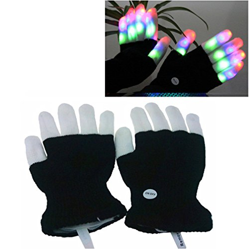 Luwint Children LED Finger Light Gloves - Amazing Colorful Flashing Novelty Toys for Kids
