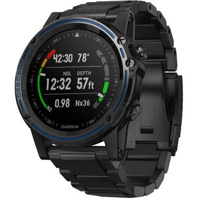 Garmin Descent Mk1, Watch-Sized Dive Computer with Surface GPS, Includes Fitness Features, Gray with Titanium Band