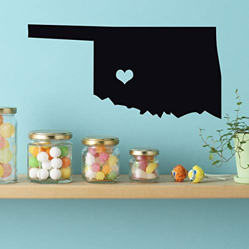 Dozili State Decals - Vinyl Wall Art Midwestern States 46th State Oklahoma City Oklahoma Sooner State 24