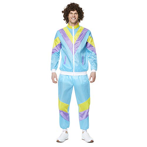 (1980s Halloween Costume - Retro Vintage Windbreaker Colorblock Tracksuit,)