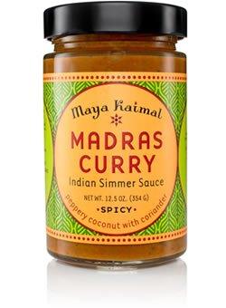 MAYA KAIMAL SAUCE SIMMER MADRAS CURRY, 12.5 OZ (Case of 6) (Madras Curry Sauce)