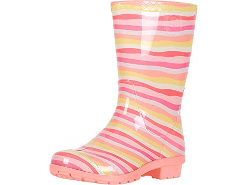 UGG Unisex K RAANA Mural Rain Boot, Rainbow, 13 M US Little Kid