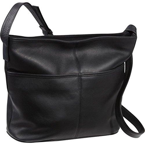 Leather Two Pocket Hobo Black Donne Le Slip aA7nqznS