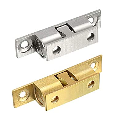 uxcell Cabinet Door Closet Brass Double Hole Ball Catch Tension Latch
