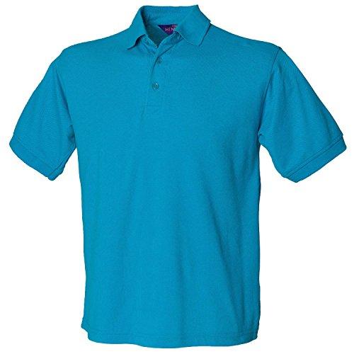 Henbury schwere Pique Polo Shirt H400türkis klein
