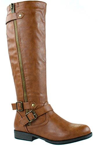Bamboo Women's Montana-48 Chestnut Boots 6 D(M) - Bamboo Womens Boots