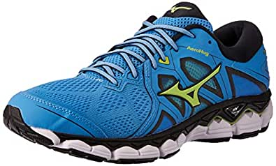 Mizuno Australia Men's Wave Sky 2 Running Shoes, Azure Blue/Sharp Green/Black, 8 US