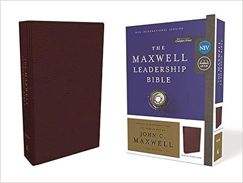 Comfort Print: Holy Bible Premium Bonded Leather Burgundy Maxwell Leadership Bible 3rd Edition NIV New International Version
