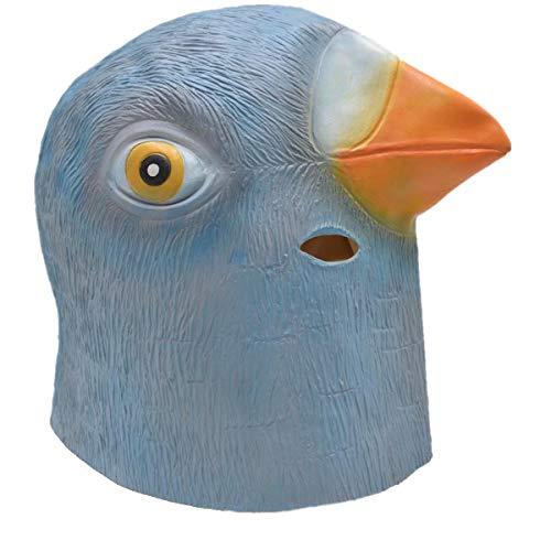 Creepy Pigeon Mask Halloween Costume - Animal Head Latex Party Mask Novelty Gift]()