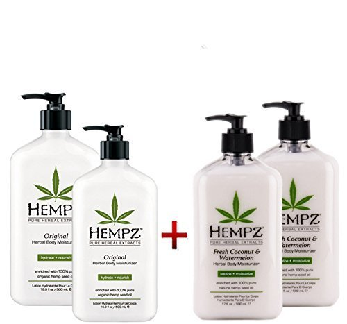 Hempz Herbal Body Moisturizer Fresh Coconut & Watermelon 17o