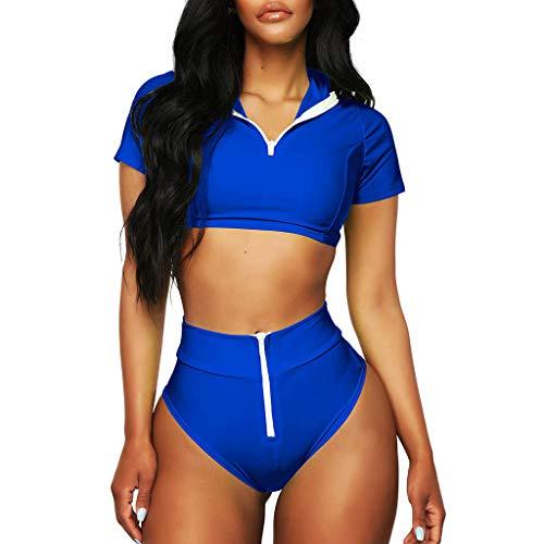 Swimsuit for Womens, FORUU St. Patrick's Day Clover Ladies Sales 2018 Under 10 Valentine's Day Best Gift for Girlfriend Sport Zipper Bikini Push-Up Pad Swimwear Bathing Beachwear Set ()