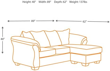 home, kitchen, furniture, living room furniture,  sofas, couches 3 image Signature Design by Ashley -  Darcy Microfiber Sofa with in USA