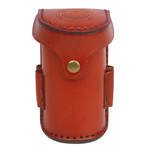 TOURBON Leather Waist Belt Golf Ball Pouch Golf Sports Accessory