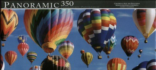 Panoramic 350 Piece Puzzle Colorful Hot Air Balloons