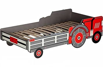 Toddler Tractor Bed Cotbed Otis Red Frame Click