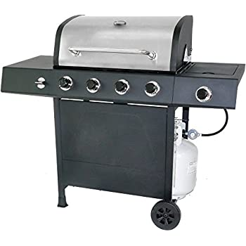 Amazon.com: 5-burner Gas Propano parrilla en acero ...