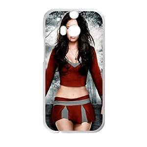 Megan Fox With Red Blood Mobile1 funda HTC One M8 caja funda del teléfono celular del teléfono celular blanco cubierta de la caja funda EVAXLKNBC25008