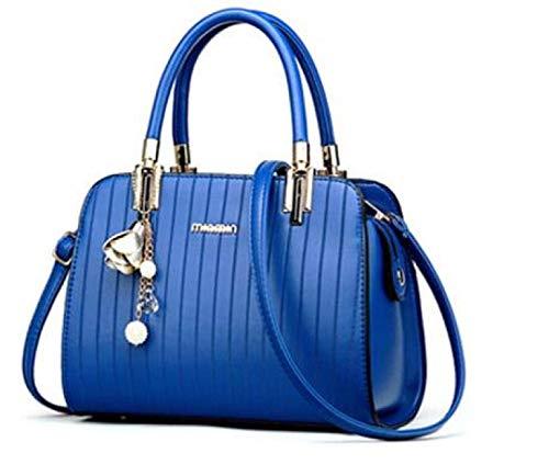 Las Bolso Manera Cuero Elegante Azul Mujeres Eeayyygch Mensajero Hombro Señoras De La negro Bolsa Iqn8d