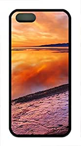 iPhone 5 5S Case The Beauty Of The Sunset TPU Custom iPhone 5 5S Case Cover Black