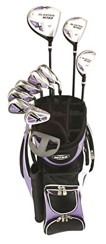 (Woman's 15 Piece Right-Handed Golf Set - Nitro Woman's Blaster Golf Set Steel and Graphite with Bag and Rainhood - 13 years and up)