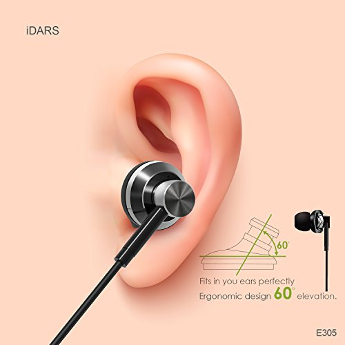iDARS E305 Headphones, Apple MFi-Certified, In-Ear Lightning Earphone, Ergonomic Design Earbuds with Mic & Remote for iPhone 7/7 Plus, iPhone 8/8 Plus, iPhone X, (Black) Support iOS 10 and later by iDARS (Image #2)