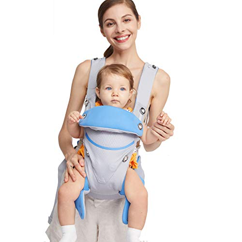 Eisemgou-Adjustable-Newborn-to-Toddler-Carrier-Multiple-Ergonomic-Positions-Simple-and-Lightweight-Front-and-Back-Infant-Carrier