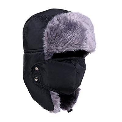 Mazo Unisex Winter Hunting Hat Trooper Hat Hunting Hat Ushanka Ear Flap Chin Strap and Windproof Mask