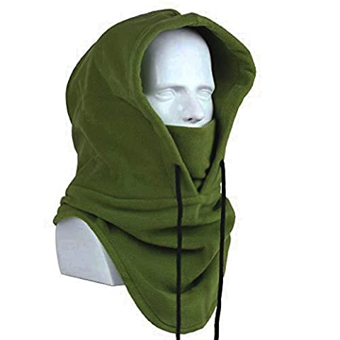 Oldelf Tactical Heavyweight Balaclava Outdoor Sports Mask for Outdoor hiking Camping Hiking Skiing Cycling and Other sports (Army - Winter Balaclava