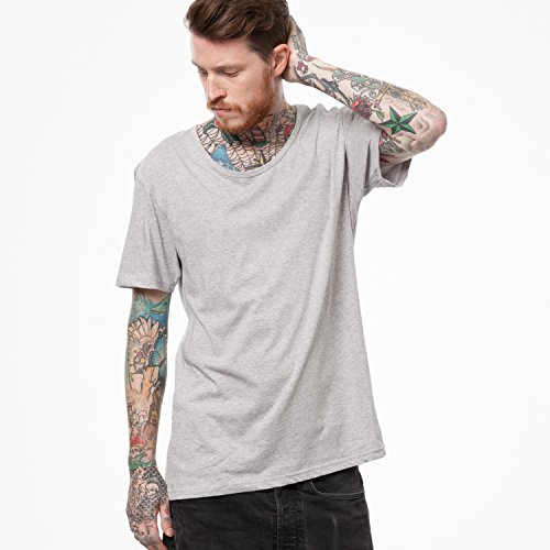 ThokkThokk TT19 Wide Neck T-Shirt Melange Grey