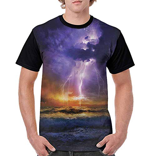 Printed T-Shirt,Epic Thunder Atmosphere Fashion Personality Customization