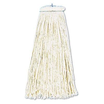 - UNISAN 716C White Cotton Cut-End Lie-Flat Wet Mop Head, 16-Ounces