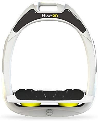 【Amazon.co.jp 限定】フレクソン(Flex-On) 鐙 ガンマセーフオン GAMME SAFE-ON Mixed ultra-grip フレームカラー: ホワイト フットベッドカラー: ホワイト エラストマー: イエロー 06029