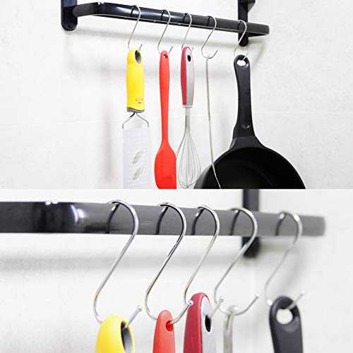 """30 Pack Large S Hooks, 3.35"""" S Shaped Hanging Hook, S Hangers for Kitchen, Office, Bathroom, Garden and Cloakroom"""