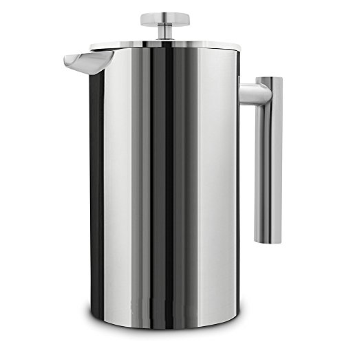 350ml Stainless Steel Double Wall Insulated Coffee Tea Maker French Press Percolators With Filter by Areena shop
