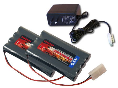 2pcs 9.6V 2000mAh NiMH Battery Packs for RC Car, Robots