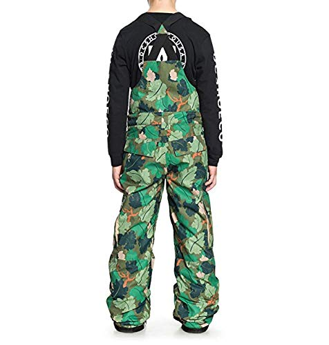 DC Boys' Big Banshee Youth Snow BIB, Chive Leaf camo, 10/M