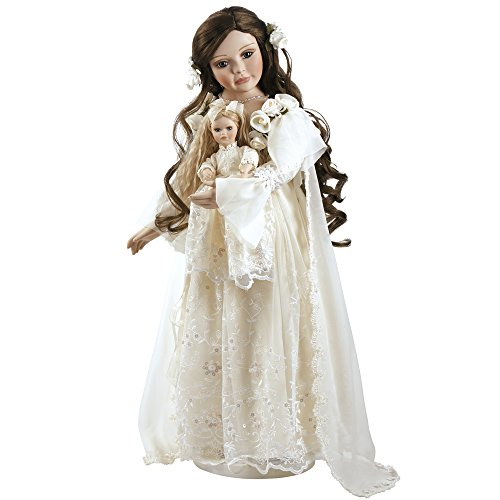 Paradise Galleries Porcelain Doll, Annabella, Victorian Heirloom Doll, Stands 25 inches