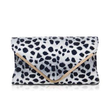 Meoaeo Nuevos Sobres Personalizados Son De La Mano Grab Bag Verde Claro Corte Transversal White Leopard Print