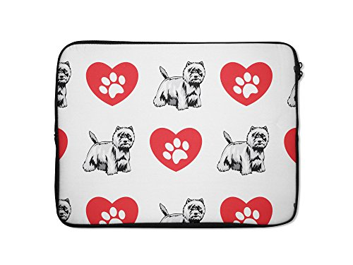 Style in Print West Highland White Terrier Dog Heart Paws...