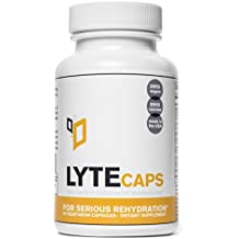 LyteCaps - Perfect Balance of Electrolytes for Serious Rehydration - 30 Servings, 60 Vegetarian Capsules (With Magnesium, Potassium, Zinc)
