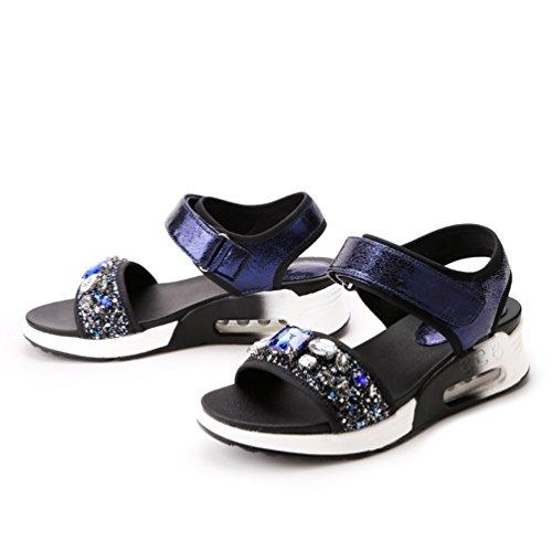 Plage Clip Sandale Ouvertes Toe Chaussures Femmes Plateformes Mode Violet Sandales JRenok de qxg68vt