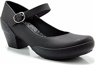 Boaonda Women's Mary Jane Pumps - Comfortable Heels - Thermoplastic Rubber Shoes Galicia Black Size: 4.5