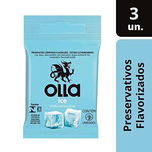 Preservativo Lubrificado Ice, Olla, Pacote de 3